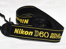 NIKON D60 Gold Edition CAMERA NECK STRAP  #01133