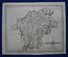 Original antique map ENGLAND, WESTMORELAND, KENDAL, APPLEBY,WINDEMERE, Cary 1793