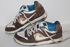 Nike 6.0 Encore Casual Sneakers, #313661-212,  Wht/Brown/Blue, Men's US 7