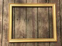 "Gold Wood Picture Frame 18-1/2"" x 22-1/2"""