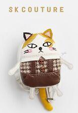 SKDOLLHOUSE  TWEEDY TABBY CAT BACKPACK - fits Blythe Pullip Momoko Lati Twinkle
