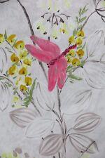 """DESIGNERS GUILD CURTAIN FABRIC DESIGN """"Kimono Blossom"""" 2.95 METRES  PEBBLE"""