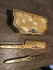 Vintage Vanity Makeup Casing With Other Matching Pieces