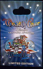 Disney California Adventure World of Color 2010 Woody Buzz LIghtyear pin DCA