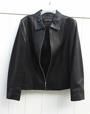 Ladies Black Leather Jacket by Ambition size XL(runs a little small)
