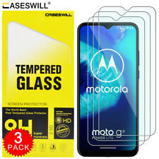 For Motorola Moto G8 Power Lite Caseswill Clear Tempered Glass Screen Protector