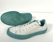 White Converse Candy Coated Light Neon Blue Midsole Women's 7