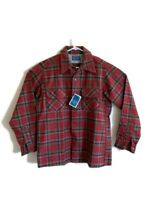 Vintage Pendleton Red Checkered Plaid Virgin Wool Flannel Shirt Medium Button
