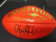 North Melbourne - Glenn Archer signed Red Sherrin Football with Gold Embossed