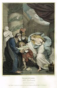 Boydell's Shakespere - TITUS ANDRONICUS (ACT IV -Sc I ) - Hand-Col Eng - 1792