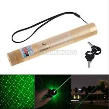 UN3F Powerful Green Laser Pointer Pen With Star Cap Golden Hot Sale ##