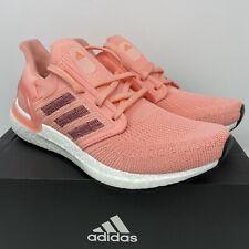 Adidas Womens Ultraboost 20 Size 8 Running Shoe EG0716 Pink White New