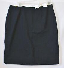 "ST. JOHN SPORT by Marie Gray Black Skirt 30"" Waist White Trim Bow Brass Heart"