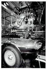 1993 Original Photo worker inspects car at Jaguar Auto Plant in Coventry England