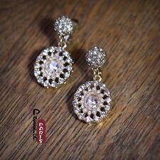 Boucles d'Oreilles Clip Pendante Mini Perle Ovale Class Soirée Mariage Cadeau B1