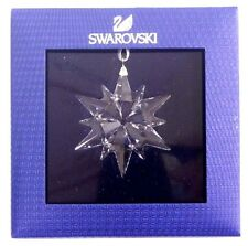 LITTLE STAR 2017 CHRISTMAS ORNAMENT CLEAR SNOWFLAKE SWAROVSKI CRYSTAL   5257592