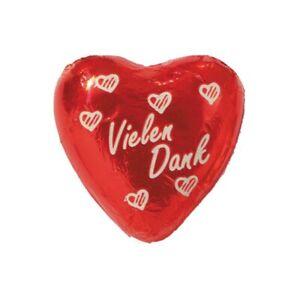(20,42€/1kg) Storz Choco-Herz Vielen Dank, Schokolade, 50 Stück