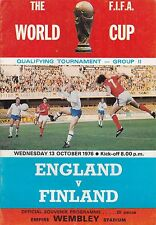 ENGLAND V FINLAND ~ WORLD CUP QUALIFIER ~ 13 OCTOBER 1976 (1)