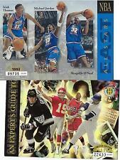 2 JUMBO MICHAEL JORDAN UPPER DE 1992-93 ALL STAR GAME W/SHAQ RC + 1994 W/MONTANA