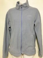 Patagonia Womens M Synchilla Light Blue Zip-Front Fleece Jacket Made in USA