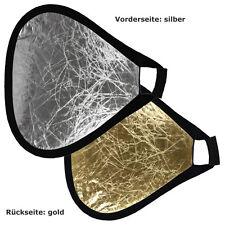 METTLE Handreflektor Foto-Reflektor Faltreflektor Aufheller gold-silber 50 cm