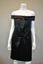 DIANE VON FURSTENBERG DVF Little Black Silk Cocktail Shift Dress sz 8 NWT