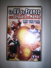 K7 VIDEO VHS LE XV DE FRANCE A LA CONQUETE DU MONDE 1987-1991-1995