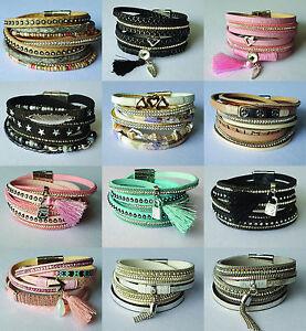 Wickelarmband-mit-Strassnieten-Perlen-Magnetverschluss-Armband-Damen