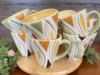 Set of 12 Pier 1 One ALVARADO Hand Painted Mugs Earthenware