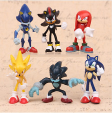Sonic Hedgehog Shadow Knuckles Game action Figure 6 PCS Set Toy Kids Gift Fans