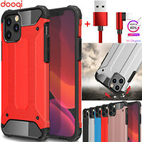 For iPhone 12 11 Pro XS Max/XR/X/SE 2 Shockproof Tough Hybrid Bumper Armor Case