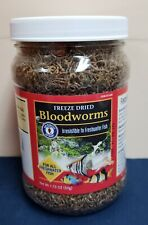 San Francisco Bay Brand Bloodworms Freeze Dried 1.75 Oz. Freshwater Fish Food