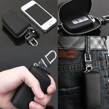 1pc Mens Key Car Holder Leather Case Bag Wallet Chain Keychain Pouch Zipper