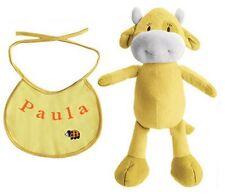 Baby Set Plüschfigur Kuh und Lätzchen mit Namen