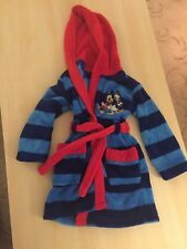 Boys Mickey Mouse Donald Duck Soft Fleece Hooded Dressing Gown Age 2-3 Yrs