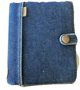 Rare Denim Filofax Pocket Daytimer