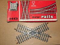 JOUEF ( 4845 ) CROISEMENT  45°  RAILS EN ACIER NEUF EN BOITE  RESEAUX HO