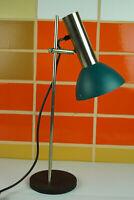 70er Tischlampe Vintage Schreibtischlampe Stehlampe Spot Lampe Leuchte blau 60er