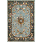 Empire Blue 6 Ft. X 9 Ft. Border Area Rug