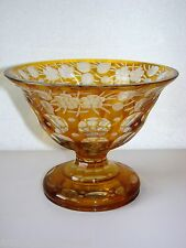 Old glass/DRAGEOIR/Fruit Bowl Glass Carved Bohemian glass