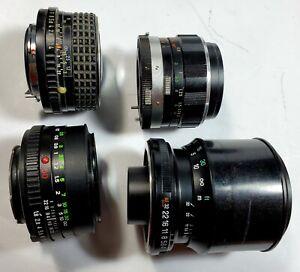 Mixed Vintage Camera Lens Lot of 4, Tamron 70-210mm, Miranda 50mm 1.9, & 2 multi