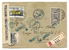 Switzerland Old Registered Cover sent to Rome Italy Censor Postal History 1943