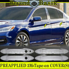 2013 2014 2015 2016 2017 Honda Accord 4Dr TRIPLE Chrome Door Handle Covers W/SmK