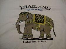 Thailand Elephant Show Surin Land of Smile White T Shirt M