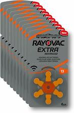 Pack 60 pilas de audifono Rayovac Extra Advanced - Zinc 13 / PR48, sin mercurio