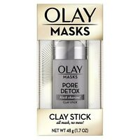 Olay Pore Detox Black Charcoal Clay Face Mask Stick Facial Cleanser - 1.7oz