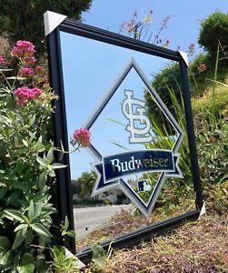 Budweiser St Louis Cardinals MLB Baseball Beer Bar Pub Man Cave Mirror New