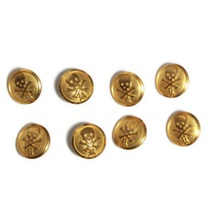 Set of 8 RUBGY Ralph Lauren Gold Waterbury Buttons Antique