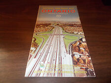 1965 Ontario Province-issued Vintage Road Map