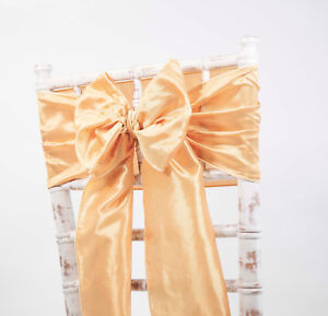 Taffeta Chair Bows Sashes 9 Colours Wedding Events Party Decor Chair Bows Shogu